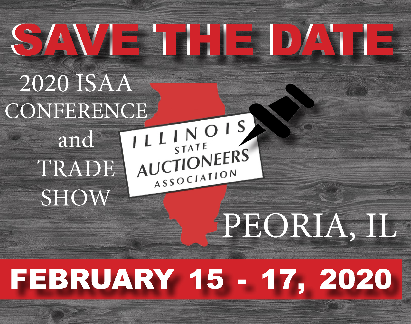 Save the Date | 2020 ISAA Conference & Trade Show | Peoria, IL | February 15-17, 2020