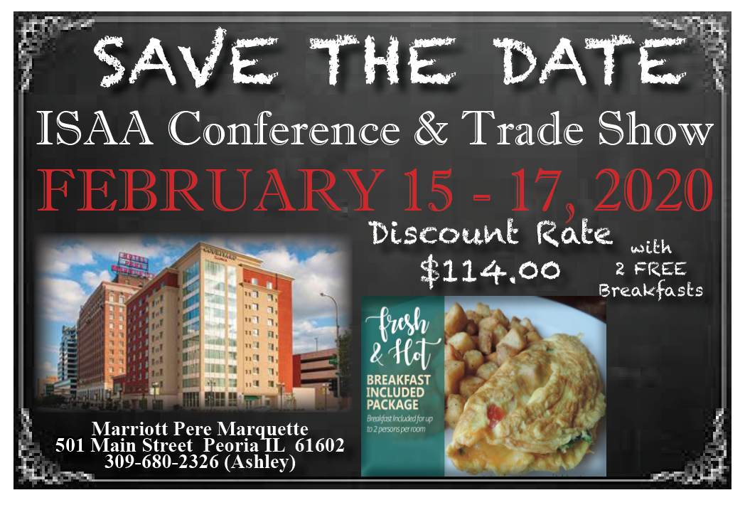 Convention Hotel Information | Marriott Pere Marquette 501 Main Street Peoria, IL 61602 | (309) 637-6500 | For Reservations: (309) 680-2326 Ashley |Group Reference: IL Sate Auctioneers